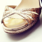 Stunning peep-toe shoes for every bride