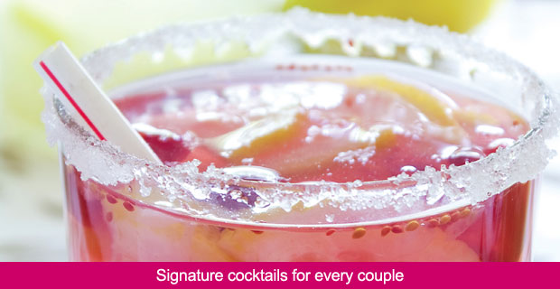 Signature cocktails for every couple
