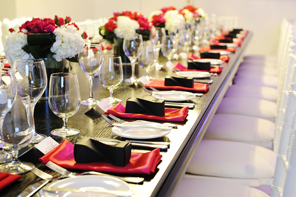 A Chic Hot Pink And Black Wedding In Toronto Ontario Todaysbride