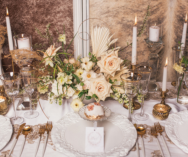 Soft and sweet white and rose gold wedding ideas - TodaysBride.ca