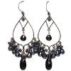 Black spinel and pyrite chandeliers