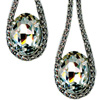 Silver plated brass earrings with Swarovski crystals