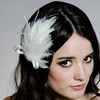 Whimsical Silk Feather Fascinator