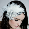Whimsical Crystal Lace Fascinator