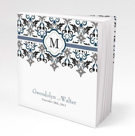 Lavish monogram personalized book style notepad