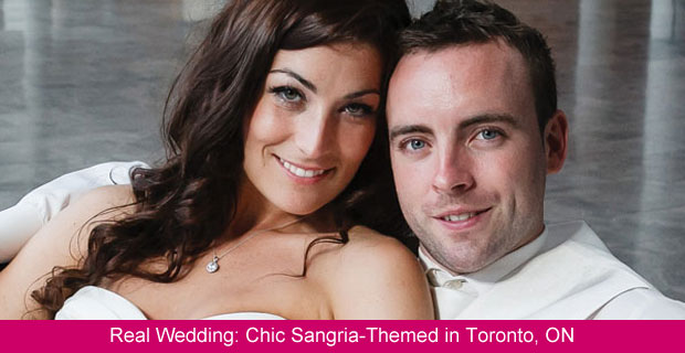A Chic and Modern Sangria-Themed Wedding in Toronto, Ontario