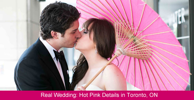 A Contemporary Wedding with Hot Pink Details in Toronto, Ontario
