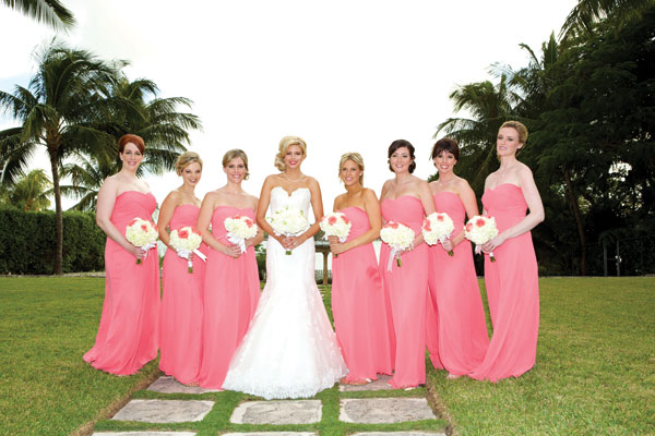 Real Bridesmaids In Our Stunning And Elegant Bridesmaid: A Romantic And Elegant Destination Wedding In The Bahamas