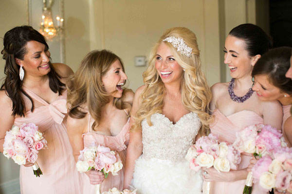 Real Bridesmaids In Our Stunning And Elegant Bridesmaid: A Chic And Elegant Wedding With Pink, Ivory And Gold
