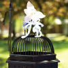 Antique birdcage for gift envelopes lends to vintage theme