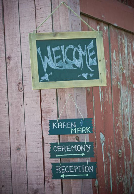 "Chalkboard ""Welcome"" sign"