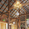 Barn decorated reception