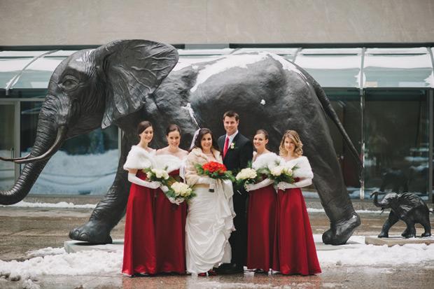 An Elegant Outdoor Wedding In Toronto Ontario: An Elegant Festive Winter Wedding In Toronto, Ontario