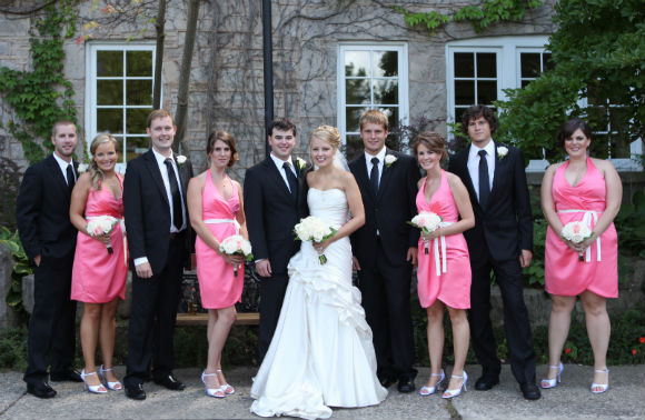 A Pretty In Pink Wedding In Ancaster Ontario