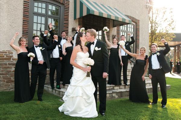 Romantic Outdoor Black Tie Wedding: A Romantic Black-Tie Wedding With DIY Details In Toronto