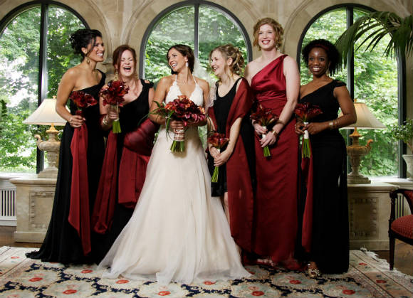 A Red And Gold Outdoor Wedding In Toronto Ontario