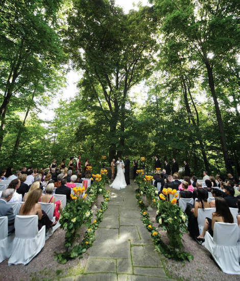 A Red and Gold Outdoor Wedding in Toronto, Ontario ...