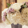 pink &amp; white wedding flowers