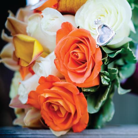 Ideas for your bridal bouquet and wedding flowers todaysbride orange and white rose bouquet mightylinksfo