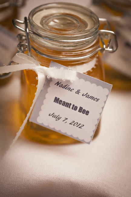 "Homemade ""meant-to-bee"" honey jars"