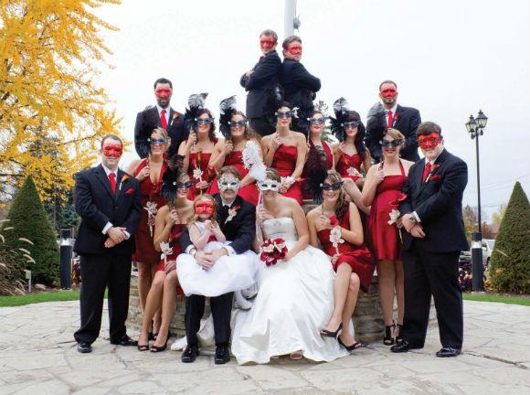 A Masquerade Wedding In Toronto Ontario