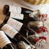 Wine bottle favours with personalized labels