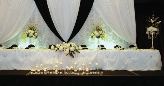 Black And White Themed Head Table