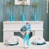 Sweetheart head table with a mantel stand back-drop