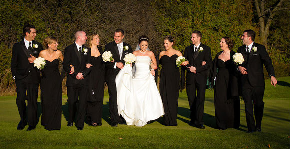 An Elegant Black And White Wedding In Ajax Ontario