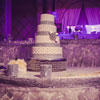 4 tier ivory cake with crystal detailing and diamond-style ribbons
