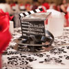 Movie reel and film marker with DVD centrepiece