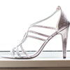 Bride's Silver Wedding Shoes
