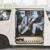 Groomsmen in a Getaway Car