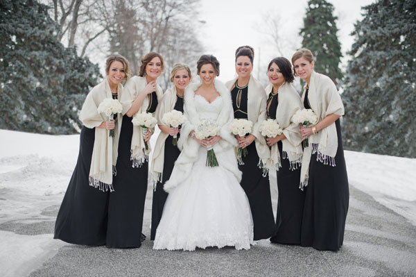 Real Bridesmaids In Our Stunning And Elegant Bridesmaid: An Elegant Winter Wonderland Themed Wedding In Windsor